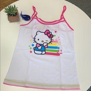 Hello Kitty Junior PJ Top, Large, New, Tank